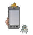 smartphone and viruses vector image vector image