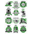 soccer sports bar football pub icons vector image vector image