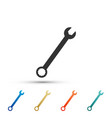 spanner icon isolated on white background vector image