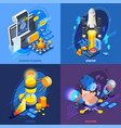 startup entrepreneurship isometric icons concept vector image