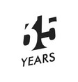 thirty five years emblem template vector image vector image