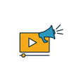 video marketing icon simple element from smm vector image vector image