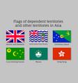 waving flags of dependent territories vector image