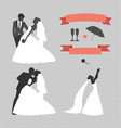 wedding set design elements vector image