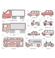 Transportation concept set icons in vector image