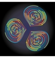 abstract rainbow circles vector image