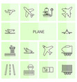 14 plane icons vector image vector image