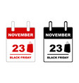 2018 black friday calendar vector image
