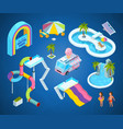3d pictures of water park attractions vector image vector image