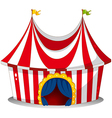 A circus tent vector image