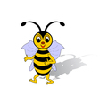 A funny cartoon bee isolated on a white background vector image vector image