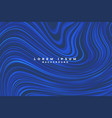 abstract blue lines liquid style swirl background vector image