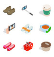 acquisition icons set isometric style vector image vector image