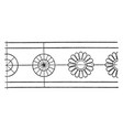 antique bronze shield rosette band is a small vector image vector image