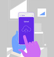 augmented reality cloud office storage mobile app vector image vector image
