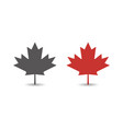 autumn red maple leaf icon simple flat style vector image