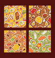 autumn symbols banner items card with clothes vector image vector image