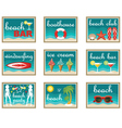 Beach set icons vector image vector image