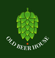 beer hop logo of brewery old beer house label on vector image vector image