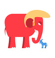 Big Red Elephant and little blue donkey symbols of vector image vector image