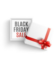 black friday sale with open vector image vector image