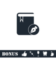 Book write icon flat vector image vector image