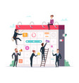 business schedule concept characters managers vector image