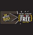 buy 2 get 1 free 5000x1989 pixel banner vector image vector image