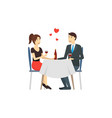cartoon characters people couple in love vector image vector image
