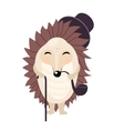 cartoon gentleman hedgehog isolated on the vector image vector image