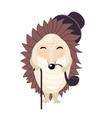 cartoon gentleman hedgehog isolated on the vector image vector image