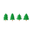 christmas tree shapes vector image