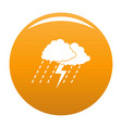 cloud thunder icon orange vector image