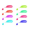 cosmetic liquid nail polish smear stroke vector image
