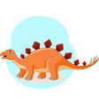 cute cartoon stegosaurus is screaming vector image vector image