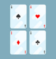 deck of cards all aces on vector image vector image