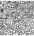 decorative graphic curly floral seamless pattern vector image vector image