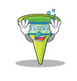 diving funnel character cartoon style vector image vector image