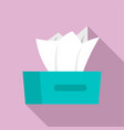 dry napkins icon flat style vector image