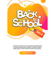 dynamic modern fluid mobile for back to school vector image vector image