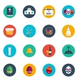 Easter Flat Design Round Icon Set vector image
