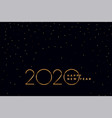 elegant black and gold 2020 new year background vector image vector image