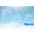 falling snow on a blue background vector image vector image