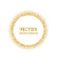 festive golden sparkle background glitter border vector image