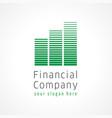 financial company logo vector image vector image