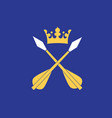 flag of dalarna is a historical province in vector image vector image