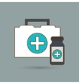 Flat about medical care design vector image vector image