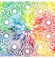 flower mandala design in oriental style vector image vector image