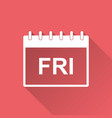 friday calendar page pictogram icon simple flat vector image vector image
