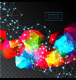 geometric background abstract vector image vector image